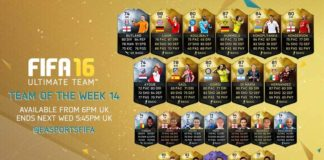 FIFA 16 Ultimate Team - TOTW 14