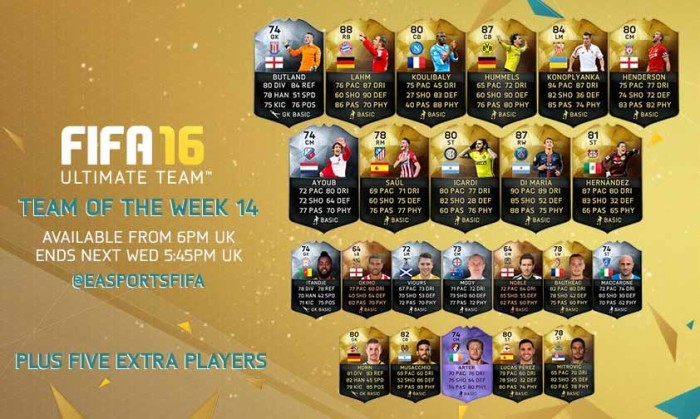 FIFA 16 Ultimate Team - TOTW 14