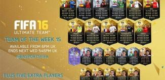 FIFA 16 Ultimate Team - TOTW 15