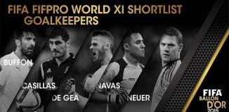 FIFA 16 Ultimate Team TOTY Goalkeepers Shortlist