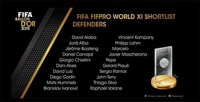 FIFA 16 Ultimate Team TOTY Defenders Shortlist