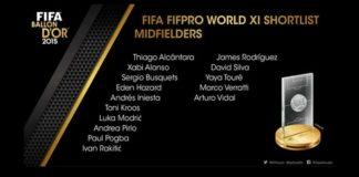 FIFA 16 Ultimate Team TOTY Midfielders Shortlist