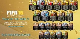 FIFA 16 Ultimate Team - TOTW 17