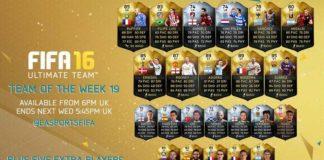 FIFA 16 Ultimate Team - TOTW 19