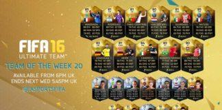 FIFA 16 Ultimate Team - TOTW 20