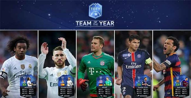 FIFA 16 TOTY Goalkeeper and Defenders Available in Packs Now