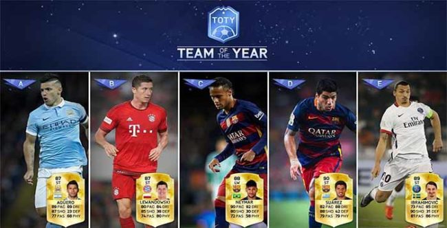 FIFA 16 TOTY Forwards Available in Packs Now
