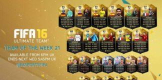 FIFA 16 Ultimate Team - TOTW 21