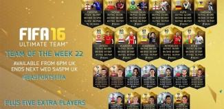 FIFA 16 Ultimate Team - TOTW 22