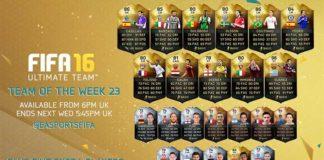 FIFA 16 Ultimate Team - TOTW 23