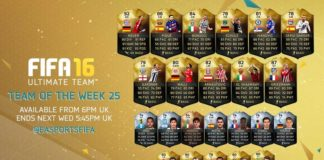 FIFA 16 Ultimate Team - TOTW 25