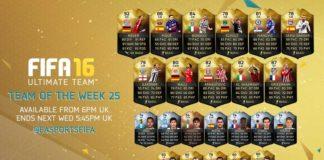 FIFA 16 Ultimate Team - TOTW 25