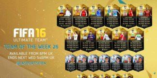 FIFA 16 Ultimate Team - TOTW 26