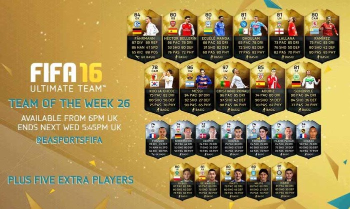 FIFA 16 Ultimate Team - TOTW 26