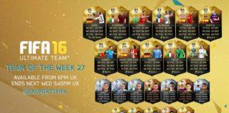 FIFA 16 Ultimate Team - TOTW 27