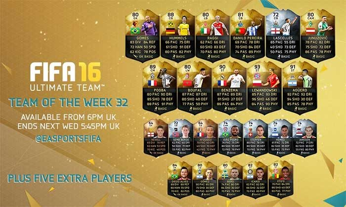 FIFA 16 Ultimate Team - TOTW 32