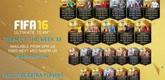 FIFA 16 Ultimate Team - TOTW 33