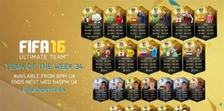 FIFA 16 Ultimate Team - TOTW 34