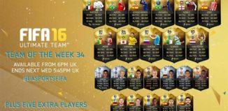FIFA 16 Ultimate Team - TOTW 34