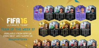 FIFA 16 Ultimate Team - TOTW 37