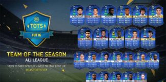 FUT 16 ALJ League TOTS (Saudi Arabian League)