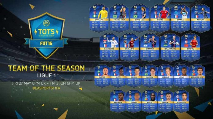 FUT 16 Ligue 1 TOTS (French League)