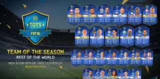 FUT 16 Rest of the World TOTS (ROTW)