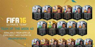 FIFA 16 Ultimate Team - TOTW 40