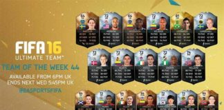 FIFA 16 Ultimate Team - TOTW 44