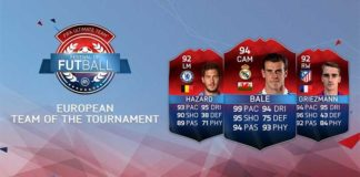 UEFA Euro 2016 Team of the Tournament for FIFA 16