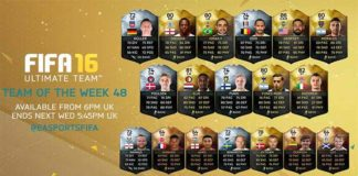 FIFA 16 Ultimate Team - TOTW 48