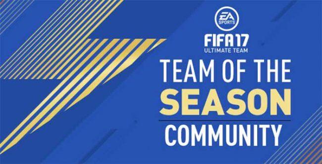 FUT 17 Community TOTS – Gold, Silver and Bronze Squads