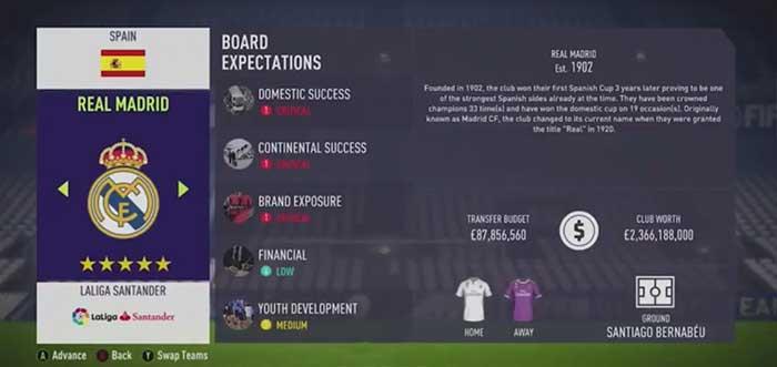 La Liga Transfer Budgets for FIFA 18 Career Mode