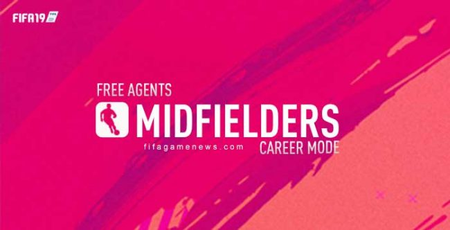 Free Agents Midfielders for FIFA 19 Career Mode