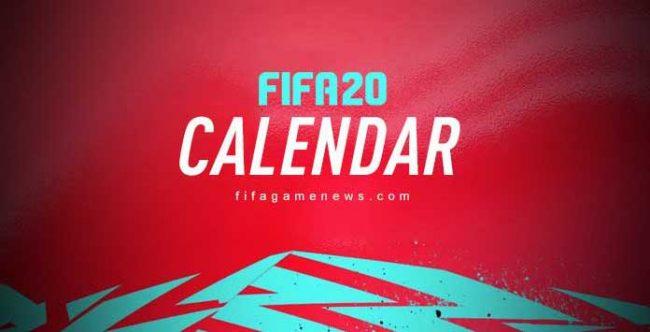 FIFA 20 Calendar Dates