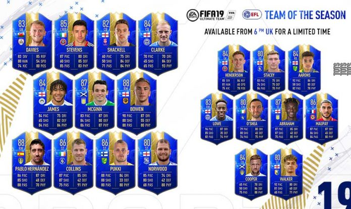 FUT 19 English Football League TOTS