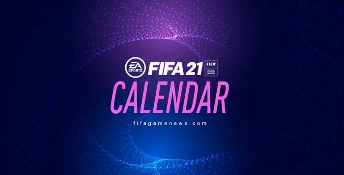 FIFA 21 Calendar Dates